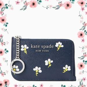 Kate Spade ♠️ Cameron Daisy Zip Card Holder